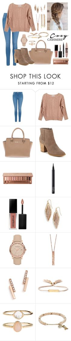 """Cozy Cashmere"" by katymccord77 ❤ liked on Polyvore featuring George, Ryan Roche, Michael Kors, Madden Girl, Urban Decay, NARS Cosmetics, Maybelline, Smashbox, Kendra Scott and Burberry"