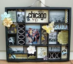 Chicago - Love this idea for documenting trips. I'm so *not* a scrapbooker but I could do this!
