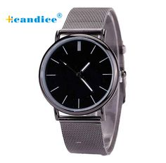 Milky Women/Men watch Lovers Metal Mesh Band Fashion Quartz Wrist Watch Ladies Watch Reloj Mujer April17  #Affiliate