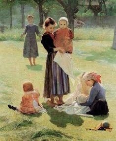 The Haunting Images of Giuseppe Pellizza da Volpedo (Italian Pointalist, 1868-1907) Mommies