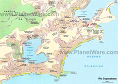 Rio Copacabana map - Tourist attractions