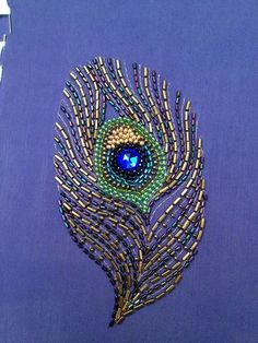 (no title) # embroidery # on # embroidery Embroidery On Kurtis, Kurti Embroidery Design, Hand Embroidery Dress, Embroidery Neck Designs, Aari Embroidery, Bead Embroidery Patterns, Embroidery Works, Bead Embroidery Jewelry, Hand Embroidery Stitches