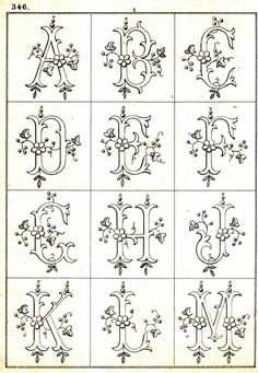 Vintage Embroidery Patterns Free Easy Cross, Pattern Maker, PCStitch Charts Free Historic Old Pattern Books: Sajou No 346 Wood Burning Stencils, Wood Burning Crafts, Wood Burning Patterns, Wood Burning Art, Stencil Wood, Embroidery Transfers, Embroidery Stitches, Hand Embroidery, Machine Embroidery