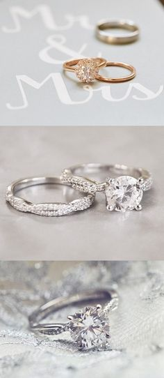 Would you tie the knot in one of these gorgeous matched engagement ring sets?