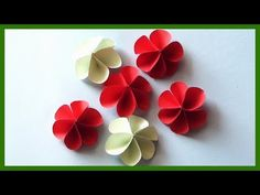 (95) DIY Paper Flowers | Very Easy and Simple Paper Crafts - YouTube