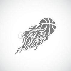 vector flame fire ball basketball symbol icon Basketball Drawings, Basketball Tattoos, Tribal Tattoos, Tatoos, Photo Logo, Love Drawings, Creative Logo, Logo Design Inspiration, Cricut Design