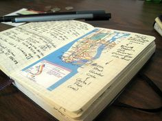 A travel journal made from a Moleskine: must be the perfect combination!