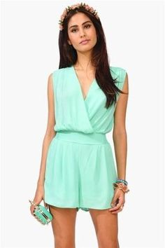 Chic Chick Romper - Mint by dollie