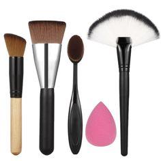 Pro Oval Escova creme Foundation Pó Blush Blush Contour Maquiagem Ferramentas…