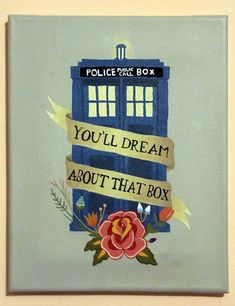 TARDIS. Brand new and ancient, and the bluest blue ever.