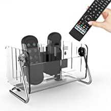 Gfday Tv Remote Control Caddy Storage Holder Organizer Box For Table Desk Bedside 360 Rotate Acryl Remote Holder Remote Control Storage Remote Control Holder