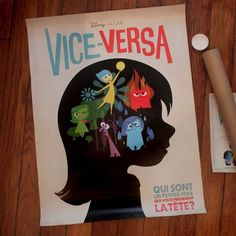 """Beautiful French poster for the new #Pixar film, """"Inside Out"""".  Scrap-Jack!!"""