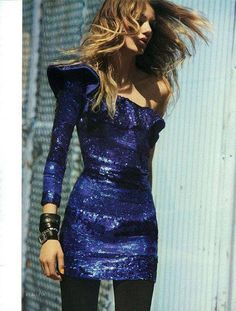 blue sparkly dress