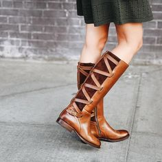Criss-cross detail makes these boots a must-have | The Frye Company