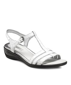 Look what I found on #zulily! ECCO White Sensata Leather Sandal by ECCO #zulilyfinds