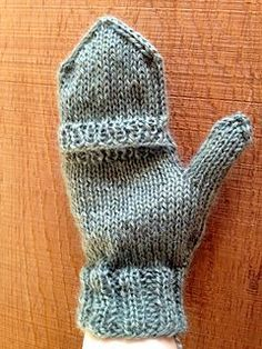 This is a quick and easy pattern for creating versatile filp-top mittens! It is knit from the cuff up, first creating the fingerless mitts, then picking up stitches to knit the flip-top, so the whole thing is done in one piece!