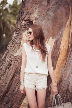 lacy shorts, all neutrals    CouldIHaveThat