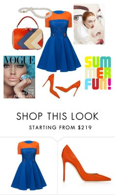 """""""Fun with Orange"""" by tammydevoll ❤ liked on Polyvore featuring Lattori and Gianvito Rossi"""
