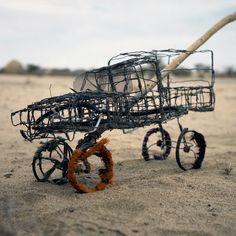 Wire frame toy car