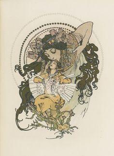 Alfons Mucha, lithographie pour 'Ilsée, princesse de Tripoli' de Robert de Flers (1897)