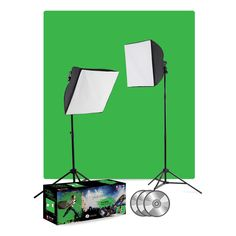 uLite Green Screen Video Lighting Kit  You may have heard about the wonders of using Green Screen for video, but for the first time ever, we teach how simple and easy this technique is to perform.