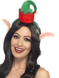 b3b39df9fc312 Mini sombrero elfo con orejas adulto Navidad Disfraces De Navidad