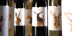 For their limited edition wine set, Stag&Hare went all out to create 24  unique labels featuring stags and hares. They partnered with Neenah Paper  for these striking labels that bring character to each bottle.