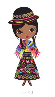 Kids of the world global clip art Arno Stern, World Thinking Day, Hispanic Heritage Month, Kawaii, We Are The World, Mexican Art, Folklore, Illustrations, Girl Scouts
