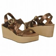 Fossil Summer Wedge Sandals (Antique Gold) - Women's Sandals - M Gold Wedge Heels, Wedge Sandals, Antique Gold, Fossil, Wedges, Summer, Leather, Stuff To Buy, Wedge
