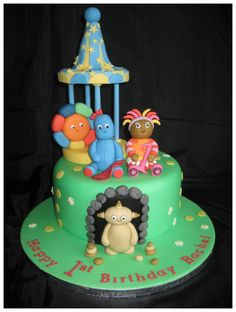 In the Night Garden Cake with Iggle Piggle Upsy Daisy and Makka Pakka.  www.facebook.com/AlyTCakes