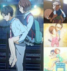 Arima and Tsubaki by SoundtrackBliss Your li in april film Sad Anime, I Love Anime, Me Me Me Anime, Kawaii Anime, Manga Anime, Anime Art, Hikaru Nara, Miyazono Kaori, Your Lie In April