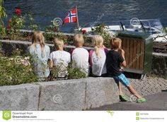 Norwegian Children Eat Ice Cream In Summer, Norway Editorial Stock Image - Image of forest, mist: 45279259 Ale, Norway, Ice Cream, Stock Photos, Vectors, Couple Photos, Children, Sign, Summer