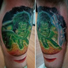Discover Marvel's biggest brute with the top 100 best Incredible Hulk tattoos for men. Explore cool masculine superhero design ideas with gallant green ink. Bruce Banner, Hulk Tattoo, Red Hulk, Superhero Design, Marvel, Incredible Hulk, Tattoos For Guys, Watercolor Tattoo, Body Art