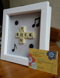 You Rock Letter Tile Art with Musical Notes by HandmadeWithLove24