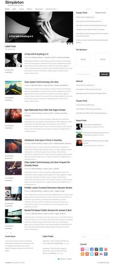Simpleton WordPress Theme is a super clean blog, lightweight and minimalist WP theme