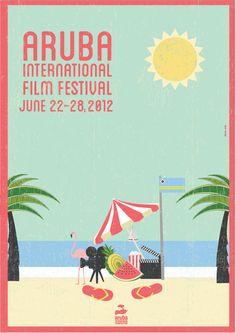 Aruba International Film Festival by Joanna Jelly, via Behance