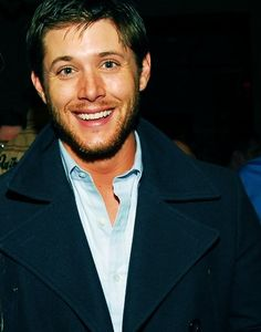 Jensen Ackles looking happier than Dean Winchester has EVER looked in eight seasons.