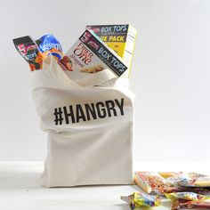 a pretty cool life. // DIY #hangry grocery tote bag