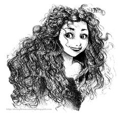 Free, printable Merida coloring pages, Merida activity sheets and Brave party invitations featuring Merida from the Disney / Pixar movie Brave. Brave Merida, Disney Fan Art, Disney Love, Art Drawings Sketches, Cool Drawings, Disney Pixar Movies, Princess Merida, Disney Artists, Twisted Disney