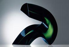 Czech Glass Art /// Jan Fišar - Object: Elevation - Slumped glass, cut and polished /// czech-glassart.com