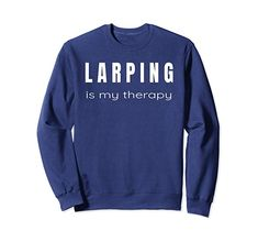 Unisex Larping is My Therapy - Larp Sweatshirt XL: Navy