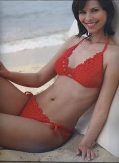 Graficos y Crochet  bikini en rojo Horgolt Dzsekik c5cc46d7b8