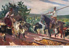 Joaquín Sorolla y Bastida (1863-1923) - Andalucía, The Round-Up, 1914 - Oil on Canvas, 358 x 766.5 cm. - Courtesy of the Hispanic Society.