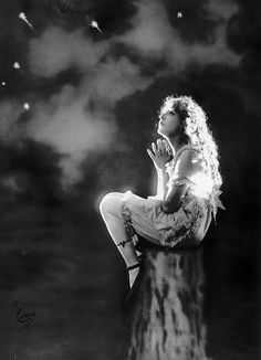 Mary Pickford gazes at the stars.