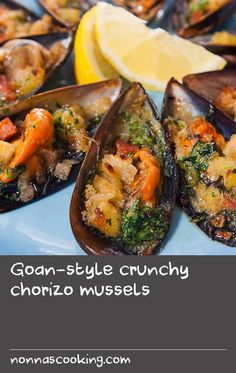 """Goan-style crunchy chorizo mussels 