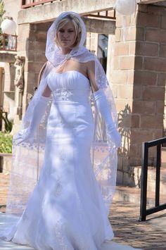 Chiffon lace wedding dress