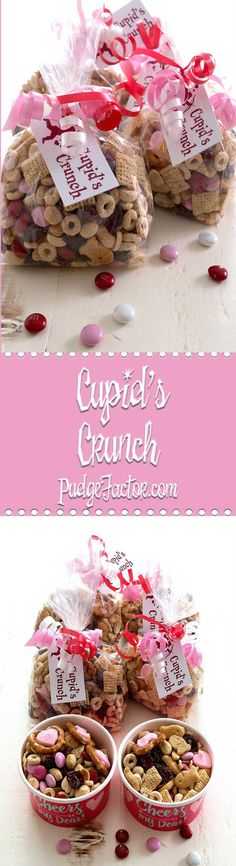Surprise your sweetheart with Cupid's Crunch. It's a no-bake treat that combines sweet & salty to produce a perfect gift for Valentine's. via (healthy snacks for kids classroom) Valentines Day Food, Valentine Treats, Valentines For Kids, Valentine Party, Valentines Recipes, Healthy Party Snacks, Kids Party Snacks, Holiday Snacks, Healthy Classroom Snacks