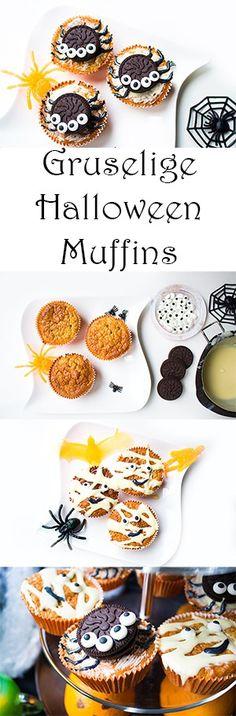 Halloween Party Rezepte - gruselige Halloween Muffins - schnell und einfach