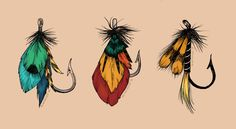 More Fishing Hook Tattoos by blindthistle on DeviantArt - Fly Fishing Lures Flash by blindthistle - Fishing Lure Decor, Trout Fishing Lures, Homemade Fishing Lures, Vintage Fishing Lures, Bass Fishing, Fishing Box, Ice Fishing, Fishing Reels, Fishing Gifts