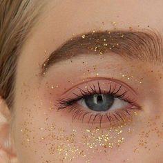 Gold shimmer.